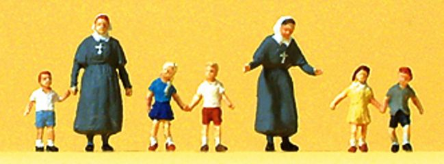 Preiser 88556 Diakonisse mit Kindern Figuren Spur Z