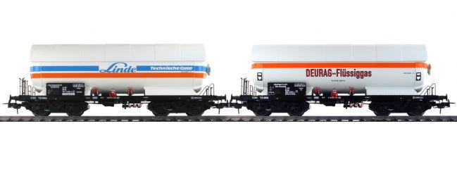 Pullman 36525 2-tlg. Set Gas-Kesselwagen ZAG 620 Linde/Deurag   DC   Spur H0