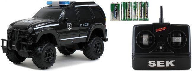 Racer 33740115 Polizei SEK RC-Auto, schwarz | mit Licht + Sound | 2.4GHz | RTR | 1:14