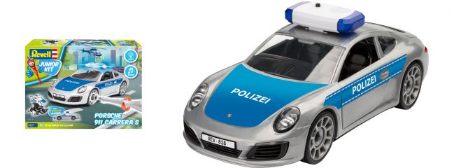 Revell 00818 Porsche 911 Polizei Junior Kit | Auto Bausatz 1:20