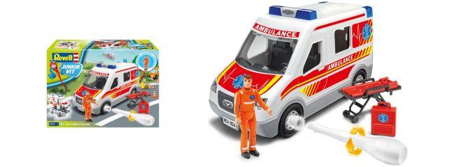 Revell 00824 Rettungswagen mit Figur Junior Kit | Bausatz 1:20
