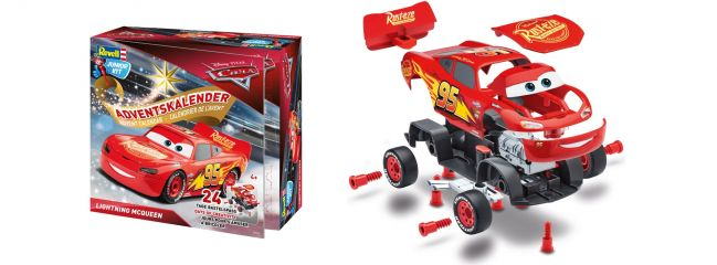 Revell 01016 Adventskalender Lightning McQueen | Auto Steckbausatz