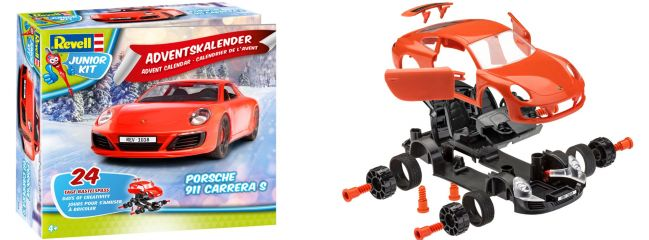 ausverkauft | Revell 01018 Adventskalender Porsche 911 Carrera S | Junior Kit