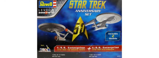 ausverkauft | Revell 05721 Geschenkset Star Trek Anniversary | 2x U.S.S. Enterprise | Raumschiff Bausatz