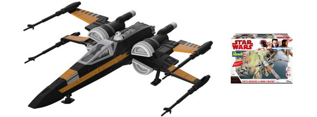 Revell 06763 Star Wars Build and Play Boosted X-Wing Fighter | Raumfahrt Bausatz 1:78