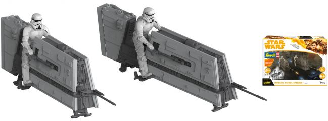 Revell 06768 Star Wars Build and Play Imperial Patrol Speeder | Raumfahrt Bausatz 1:28