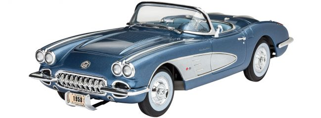 Revell 07037 Corvette Roadster (1958) | Auto Bausatz 1:25