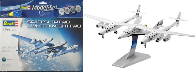 Revell 64842 Model Set Space Ship Two + White Knight Two Raumschiff Bausatz 1:144