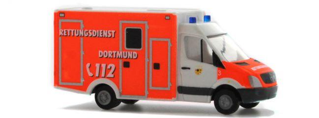 ausverkauft | RIETZE 16186 WAS RTW Rettungsdienst Dortmund | Modellauto 1:160