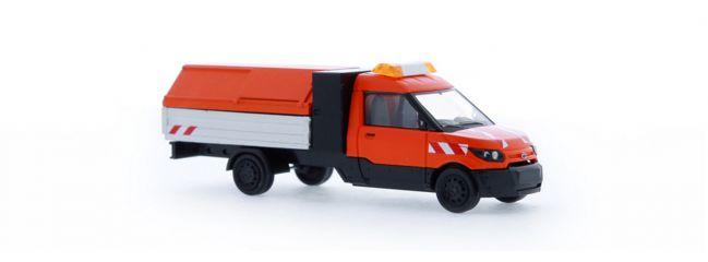 RIETZE 33200 Streetscooter Work L mit Pritsche und Müllhaube Stadtreinigung Automodell 1:87