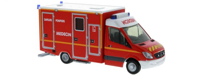 RIETZE 61786 Mercedes-Benz WAS RTW Sapeurs Pompiers F Blaulichtmodell  1:87