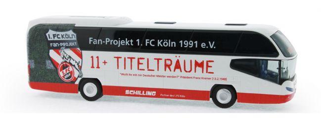 RIETZE 67138 Neoplan Cityliner 2007 Schilling Reisen Fanbus 1.FC Köln Busmodell 1:87