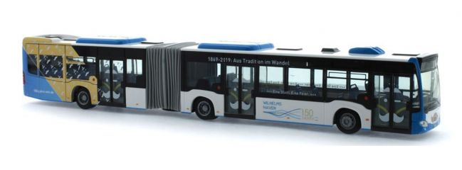 RIETZE 73651 Mercedes-Benz Citaro G 2015 150 Jahre Stadtwerke Wilhelsmhaven Busmodell 1:87