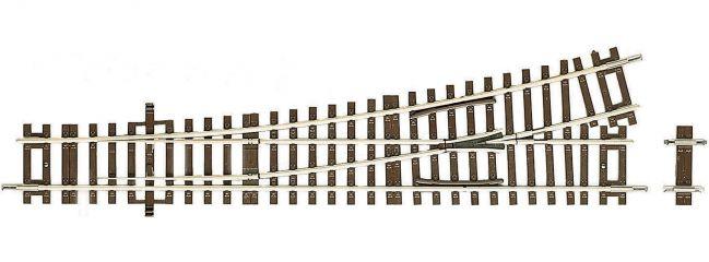 Roco 42440 UF-Weiche links, 15 Grad | Länge 230 mm | DC RocoLine | Gleise Spur H0