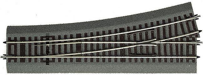 Roco 42538 Weiche links Wl15 | Länge: 230mm | 873,5mm/15° | Roco Line | Spur H0