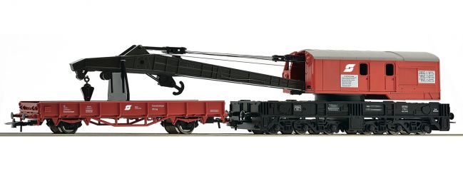 Roco 56239 Kranwagen mit Schutzwagen ÖBB | Spur H0