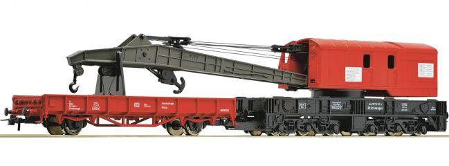 Roco 56240 Kranwagen mit Schutzwagen | verkehrsrot | DB AG | Spur H0