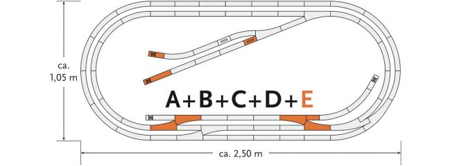 Roco 61104 Gleisset E geoLine | Spur H0
