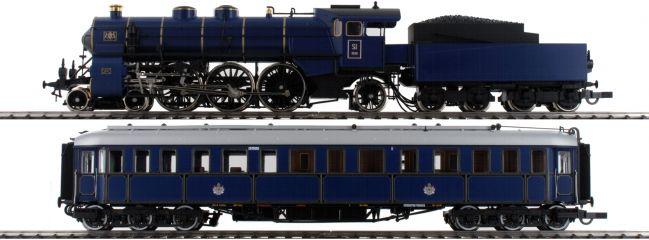 Roco 61473 Zugset Dampflok Gattung S 3/6 und Salonwagen K.Bay.Sts.B. | AC Sound | Spur H0