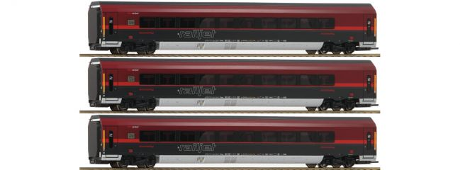 Roco 64193 Personenwagen-Set 3-tlg. Railjet ÖBB | AC-Digital | Spur H0