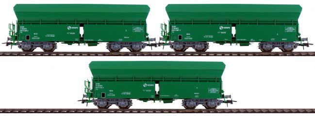 ausverkauft | Roco 67080 Selbstentladewagen Set 3-tlg. Falns Renfe | DC | Spur H0