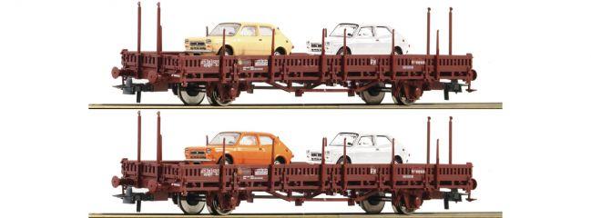 Roco 67086 Rungenwagen-Set 2-tlg. Us RENFE | DC | Spur H0