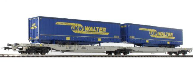 Roco 67398 Doppeltaschen-Gelenkwg. mit LKW WALTER-Aufliegern AAE | Spur H0