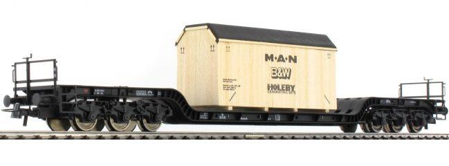 Roco 67478 Tiefladewagen + Holzkiste MAN DSB   DC   Spur H0 online kaufen