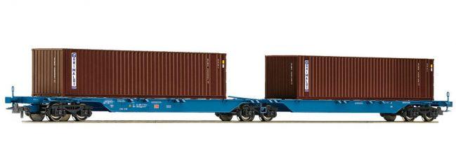 ausverkauft | Roco 67827 Container-Doppeltragwagen DB-AG Spur H0