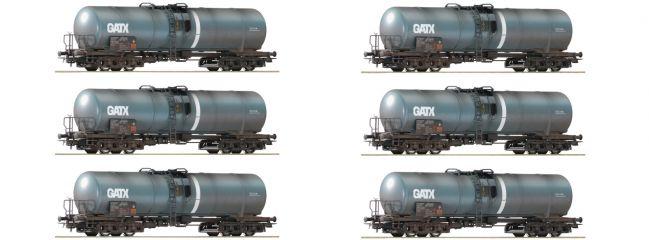 Roco 75972 6-tlg. Display-Set Kesselwagen, gealtert GATX | DC | Spur H0