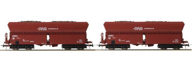 Roco 76059 2-tlg. Set 2 Selbstentladewagen RAG | DC | Spur H0