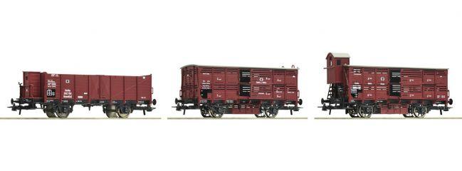 Roco 76060 Güterwagen-Set 3-tlg. KPEV   DC   Spur H0
