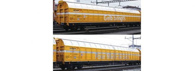 Roco 76087 2-tlg. Set Schiebewandwagen Post SBB | DC | Spur H0