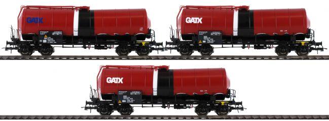 Roco 76088 3-tlg. Set Knickkesselwagen GATX | DC | Spur H0