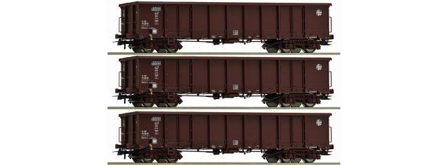 Roco 76091 Güterwagen-Set 3-tlg. Eanos HZ Cargo   DC   Spur H0