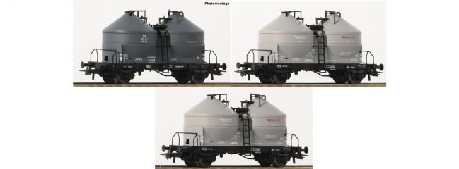 Roco 76093 Silowagen DB | Set 3-tlg | DC | Spur H0