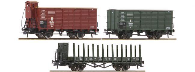 Roco 76094 3-tlg. Güterwagen Set K.Bay.Sts.B. | DC | Spur H0