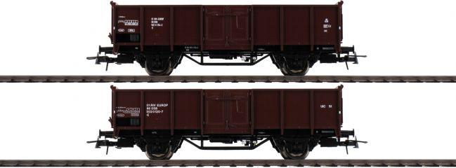 Roco 76125 Offene Güterwagen Set 2-tlg El DSB | DC | Spur H0