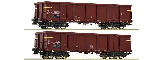 Roco 76127 Offene Güterwagen Set 2-tlg. Eaos FS | DC | Spur H0