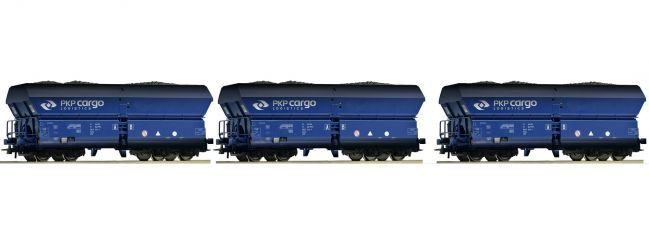Roco 76130 Selbstentladewagen-Set 3-tlg. Falns gealtert PKP Cargo | DC | Spur H0