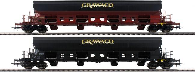 Roco 76135 Selbstentladewagen Grawaco   Set 2tlg   DC   Spur H0
