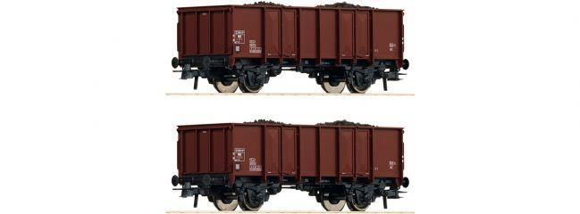 Roco 76136 2-tlg. Set Offene Güterwagen NS   DC   Spur H0