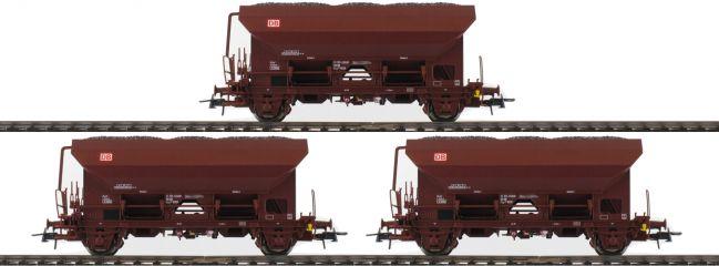 Roco 76170 3-tlg. Set Selbstentladewagen Fcs der DB AG | braun | Spur H0