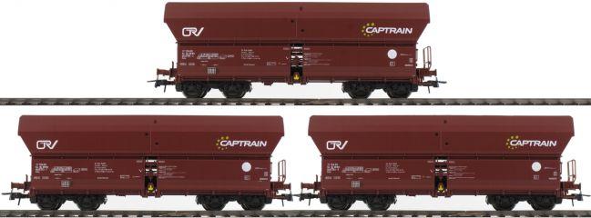 Roco 76187 Selbstentladewagen 3-er Set | Captrain | Exclusiv | Spur H0