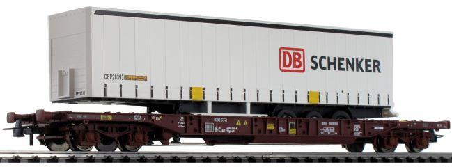 Roco 76220 Taschenwagen T3 m. DB Schenker Trailer AAE | DC | Spur H0