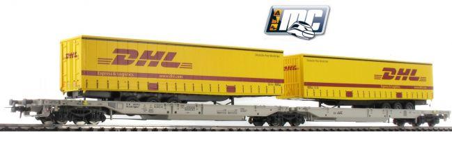 Roco 76424 Doppeltaschenwagen T-2000 DHL | AAE | DC | Spur H0