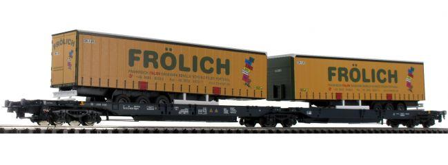 Roco 76431 Doppeltaschenwagen T2000 Frölich Wascosa   DC   Spur H0