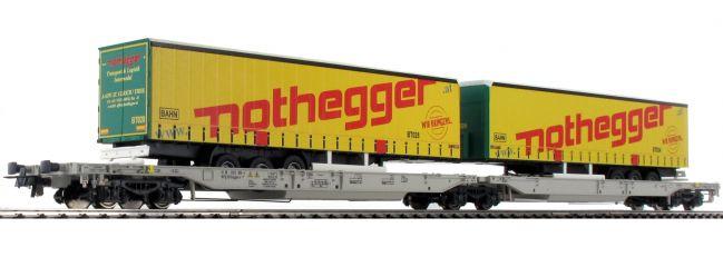 ausverkauft   Roco 76433 Gelenktaschenwagen Sdggmrs/T2000 Nothegger AAE   DC   Spur H0