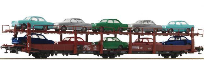 Roco 76458 Autotransportwagen Laes 543 mit VW DB | DC | Spur H0