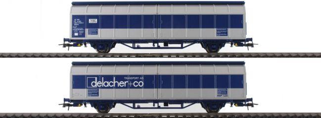 ausverkauft | Roco 76877 Schiebewandwagen-Doppeleinheit delacher+co Himrrs ÖBB | DC | Spur H0